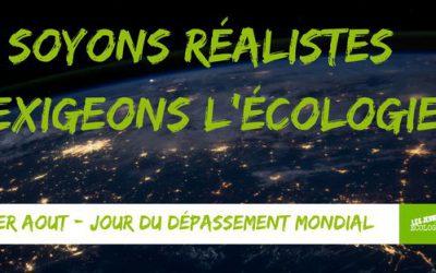 Jour du dépassement : soyons réalistes, exigeons l'écologie !