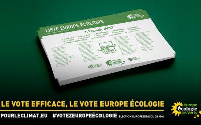 Le 26 mai : votez la liste Europe Ecologie!