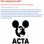 Le Taurillon – ACTA : mauvais pour la santé ?