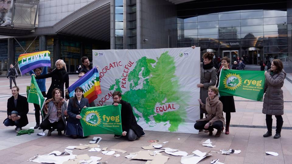 La campagne des Jeunes Vert-e-s Européens