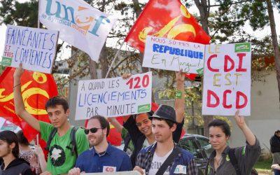 Les Jeunes Écologistes restent mobilisé-e-s contre la casse sociale