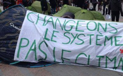 Journée mondiale du climat : les Jeunes Écologistes réclament la justice climatique !