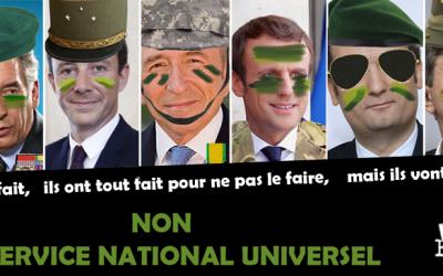 Non au service national universel, militaire et obligatoire !