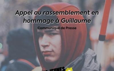 Appel au rassemblement en hommage à Guillaume